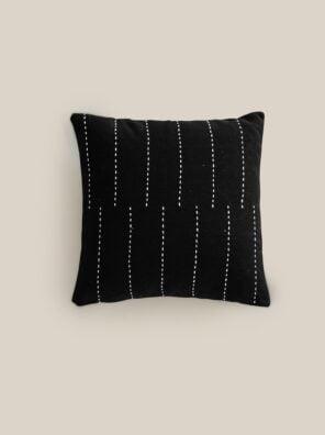 black Geneve cushion